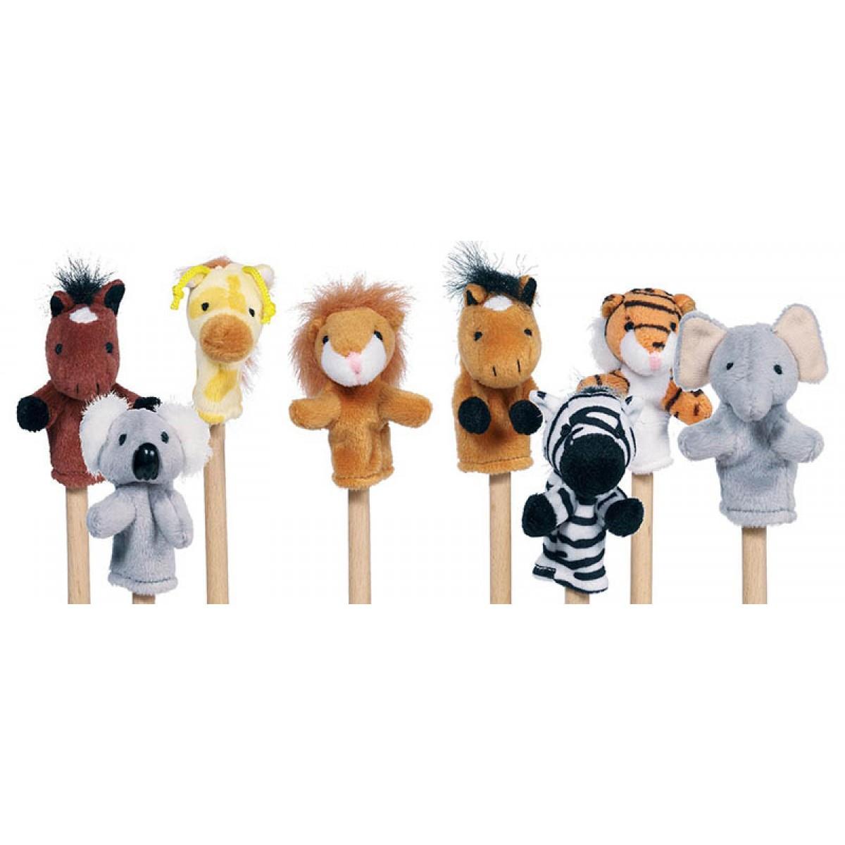 Goki Σετ Δακτυλοφιγούρες Ζώα της Ζούγκλας (8 Τεμ.) Παιχνίδια