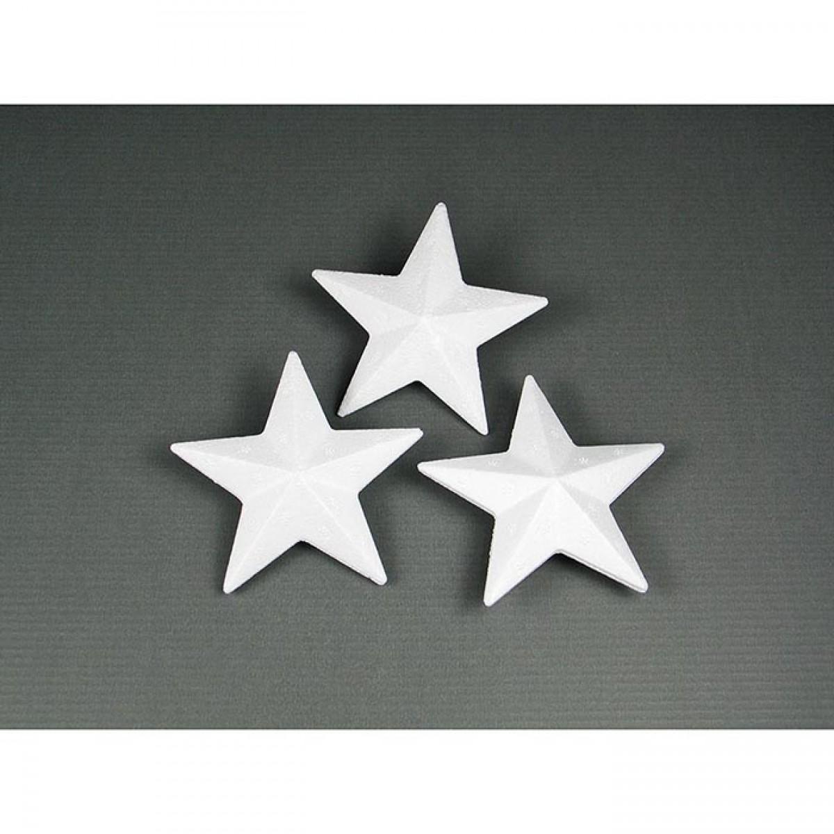 Αστέρια από Φελιζόλ 7cm (10 Τεμ.) Υλικά Χειροτεχνίας