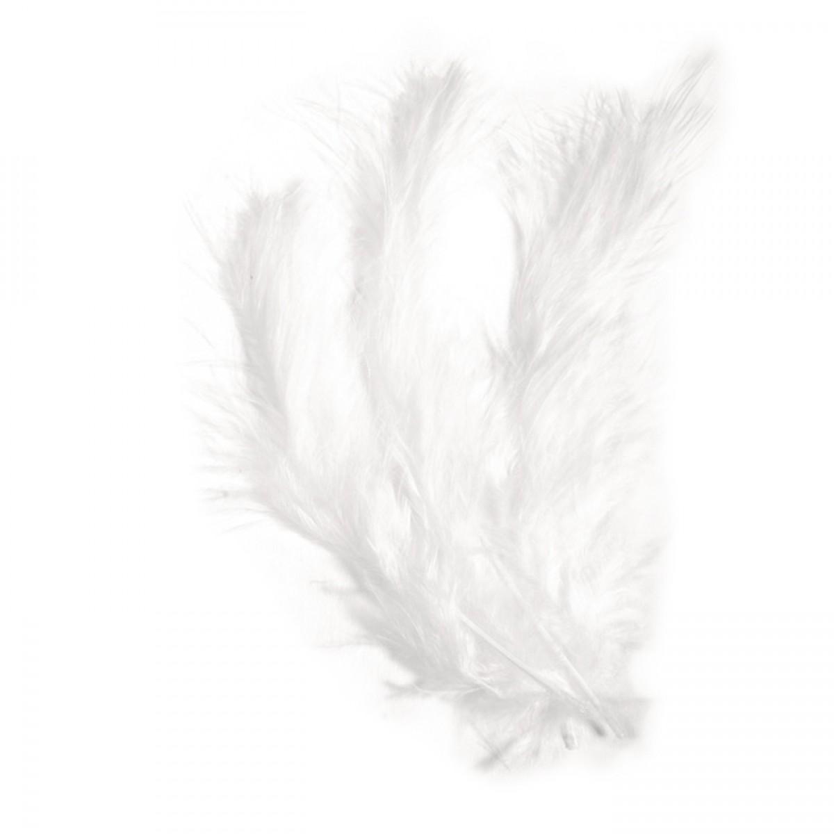 Πούπουλα Marabu Μονόχρωμα (15 Τεμ.) Υλικά Χειροτεχνίας