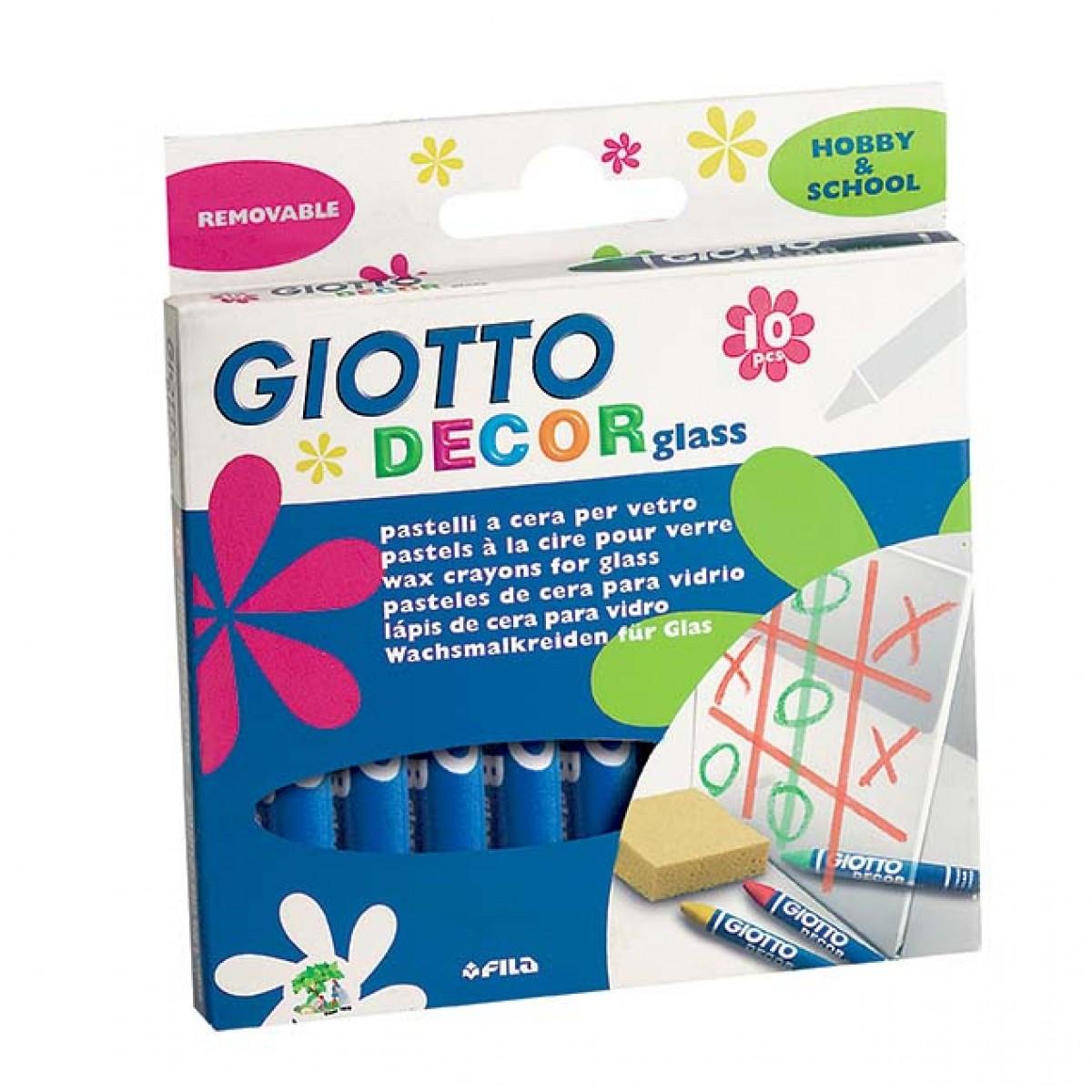 Giotto Κηρομπογιές Για Γυαλί (10 Τεμ.) Κηρομπογιές