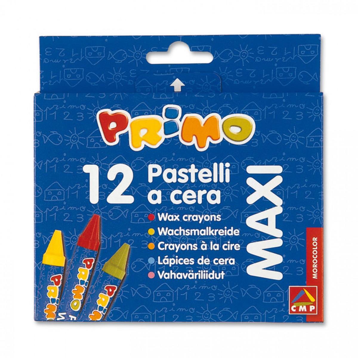 Primo Κηρομπογιές Maxi (12 Τεμ.) Κηρομπογιές