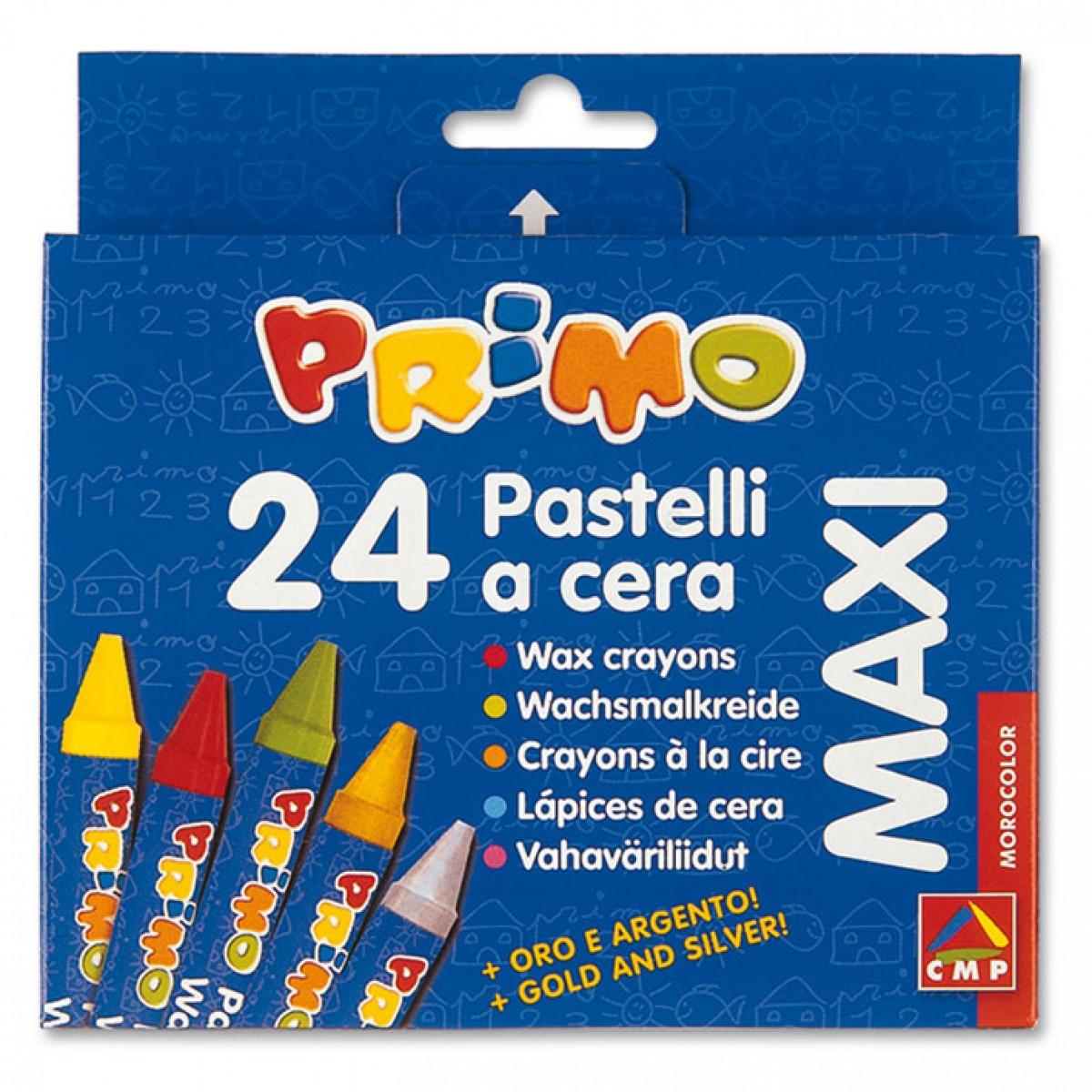 Primo Κηρομπογιές Maxi (24 Τεμ.) Κηρομπογιές