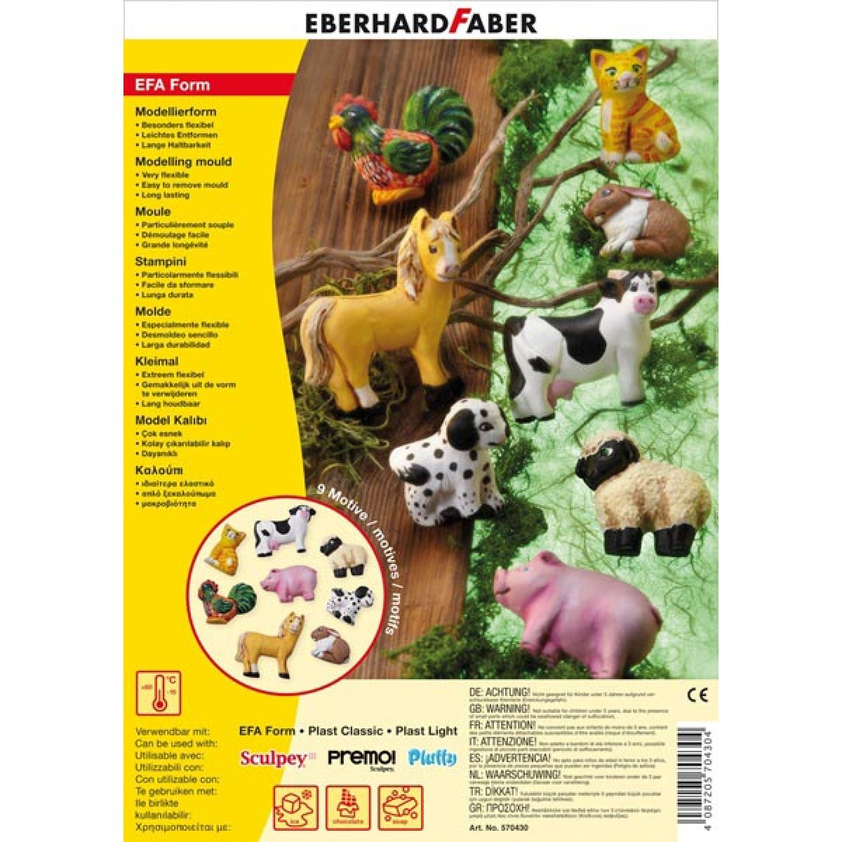 Eberhard Faber Καλούπι Farm Animals Είδη Ζωγραφικής