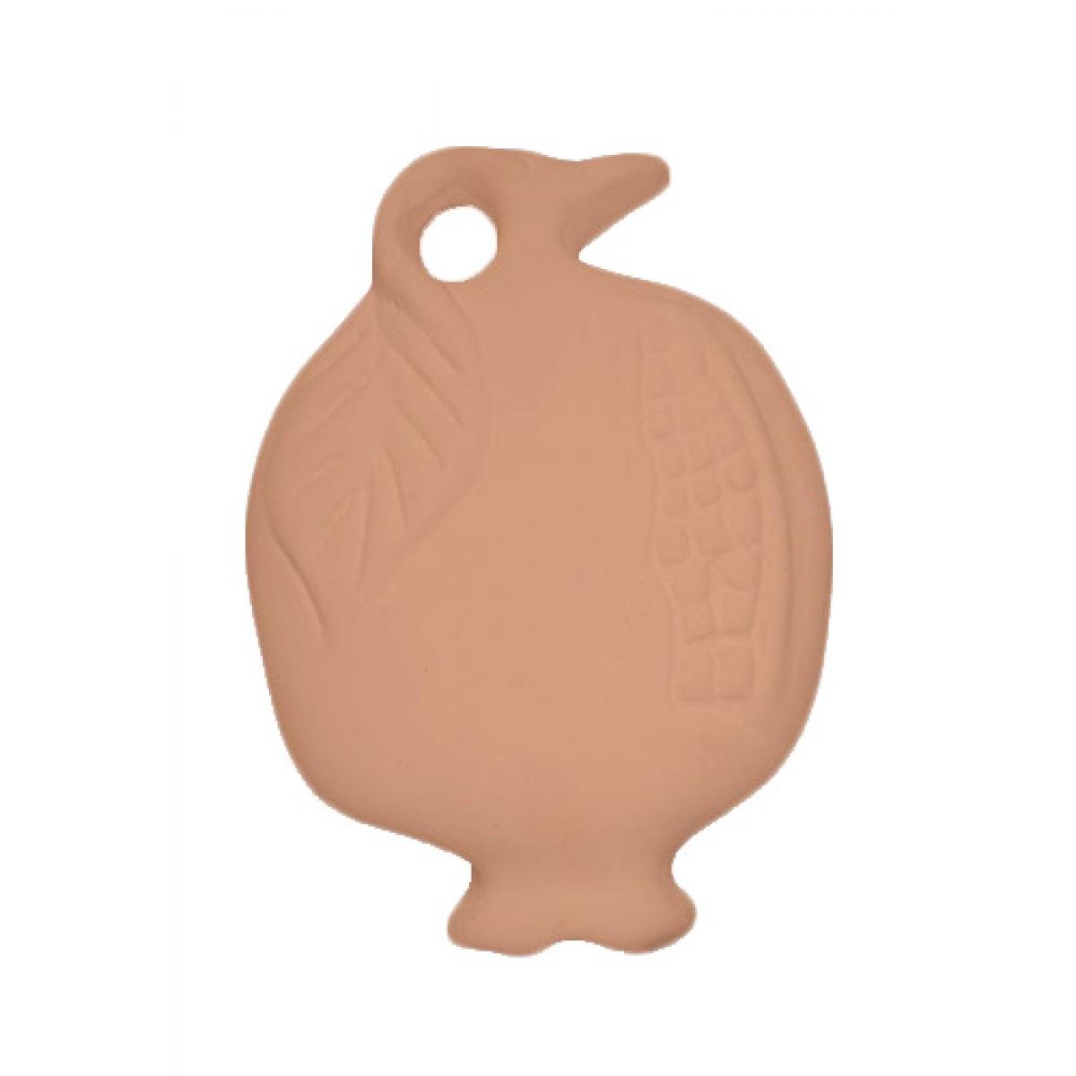 Κεραμικό Ρόδι Πλακέ 6.5cm (Μικρό) Υλικά Χειροτεχνίας