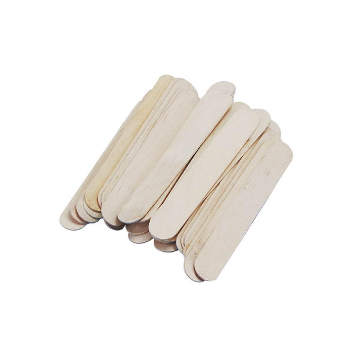 Ξυλάκια Χειροτεχνίας Φυσικό Χρώμα (80 Τεμ.) Υλικά Χειροτεχνίας