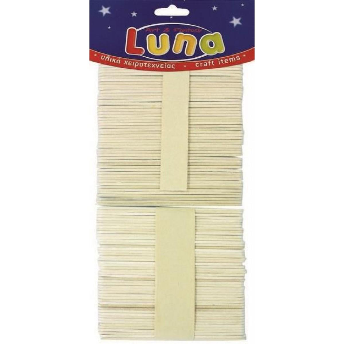 Luna Ξυλάκια Χειροτεχνίας Λεπτά (100 Τεμ.) Υλικά Χειροτεχνίας