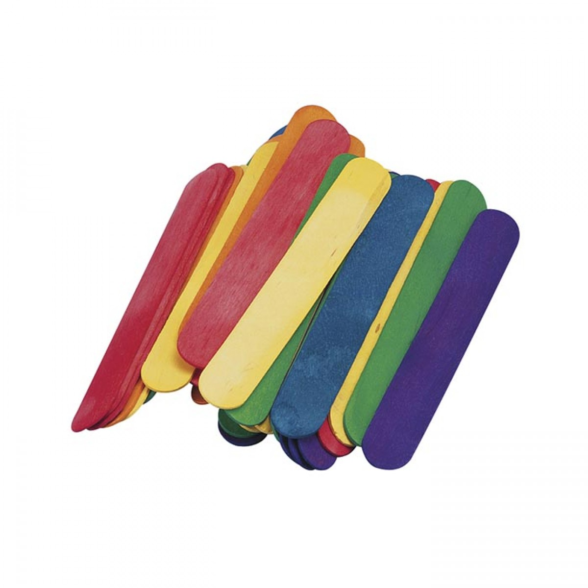 Ξυλάκια Χειροτεχνίας Μίξη Χρωμάτων (80 Τεμ.) Υλικά Χειροτεχνίας