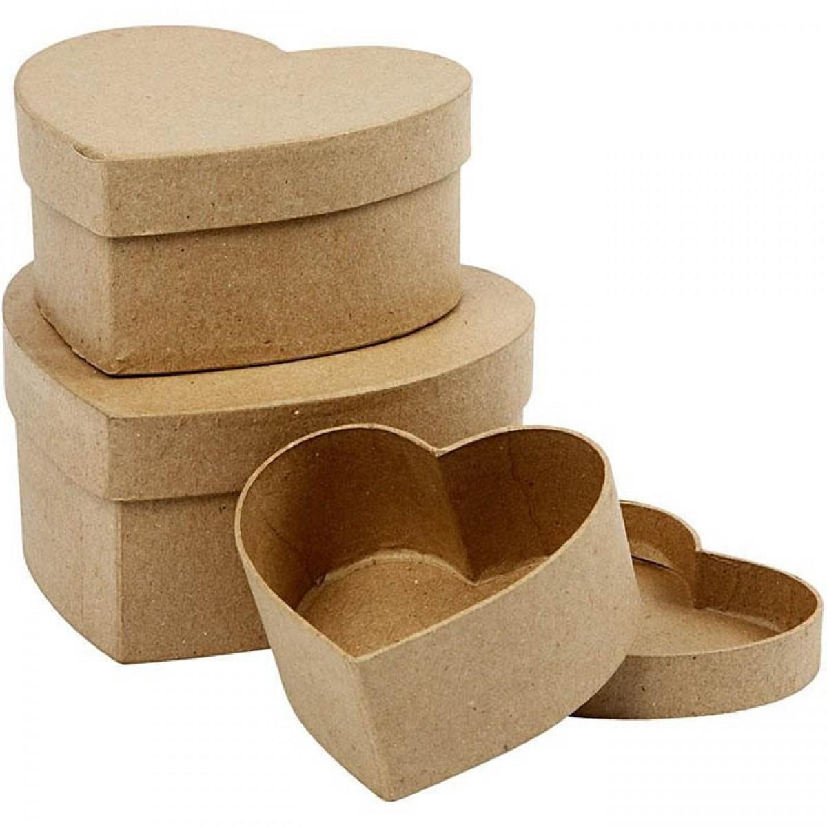 Κουτί Καρδιά (3 Μεγ.) Υλικά Χειροτεχνίας