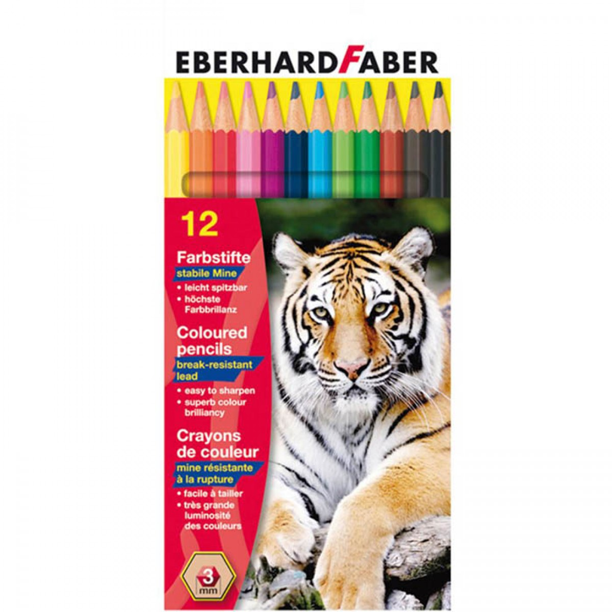 Eberhard Faber Ξυλομπογιές 3mm (12 Τεμ.) Ξυλομπογιές