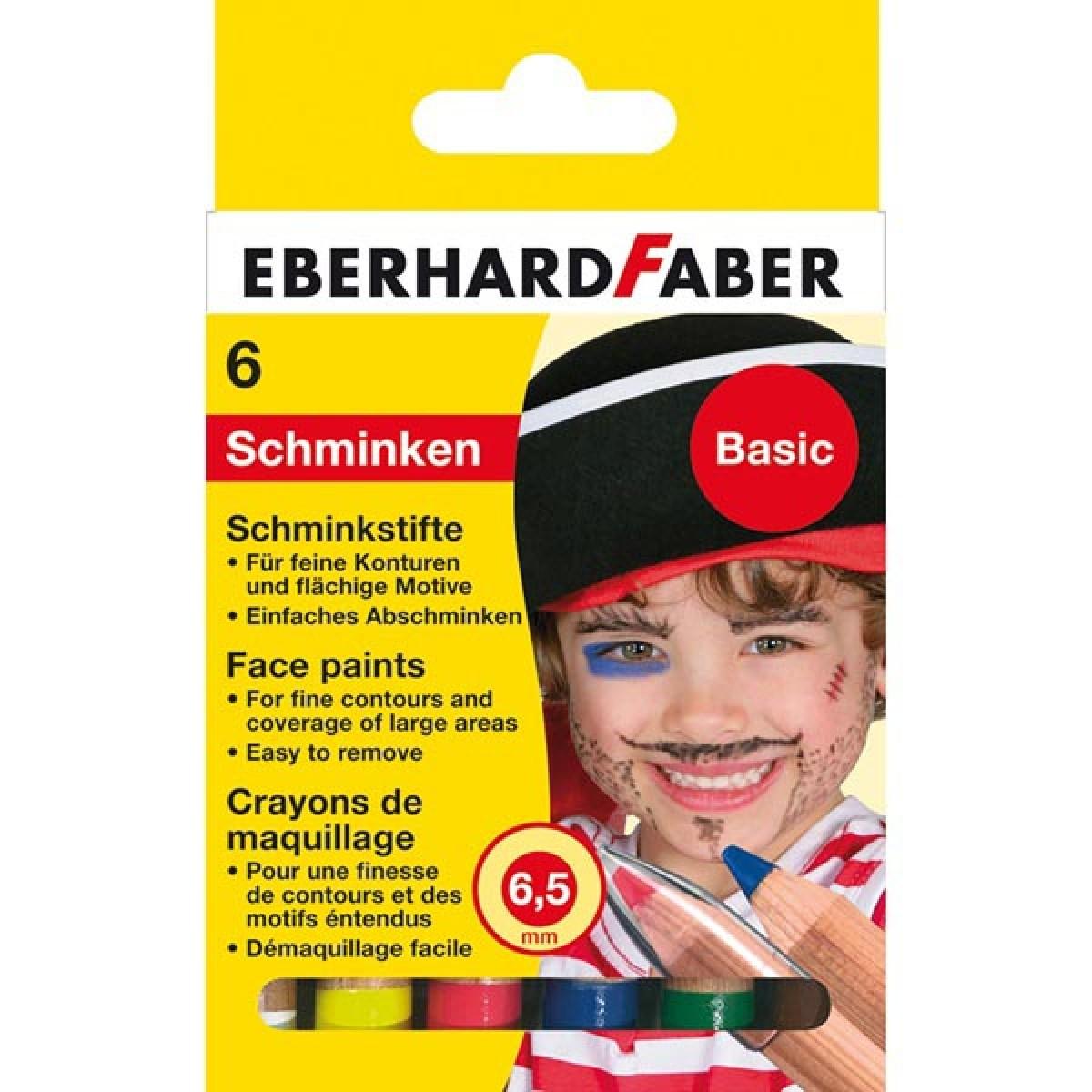 Eberhard Faber Μολύβια 6.5mm Για Το Πρόσωπο Basic (6 Τεμ.) Μπογιές για πρόσωπο