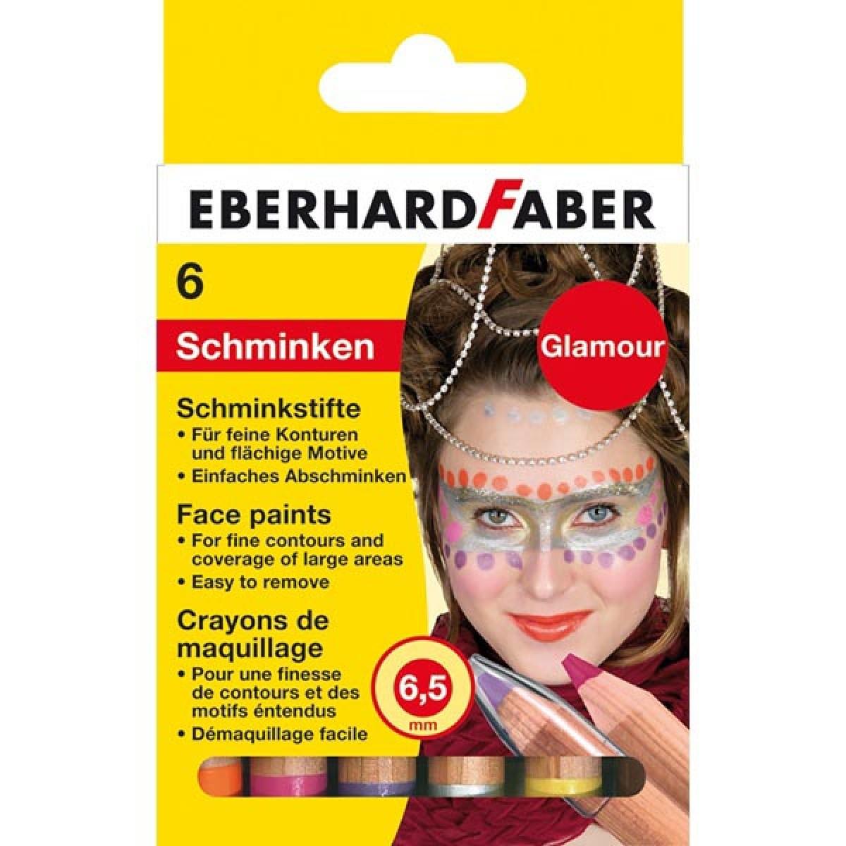Eberhard Faber Μολύβια 6.5mm Για Το Πρόσωπο Glamour (6 Τεμ.) Μπογιές για πρόσωπο