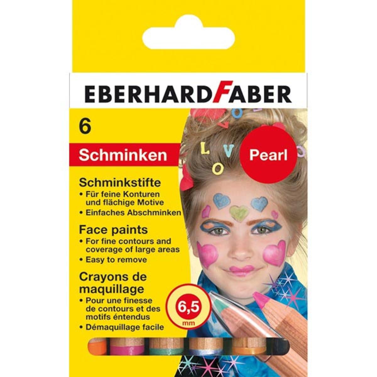 Eberhard Faber Μολύβια 6.5mm Για Το Πρόσωπο Pearl (6 Τεμ.) Μπογιές για πρόσωπο
