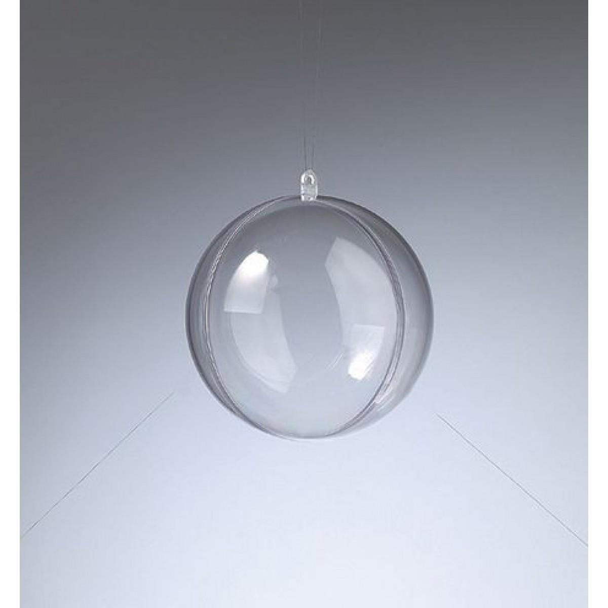 Efco Πλαστική Μπάλα Διάφανη 80mm Υλικά Χειροτεχνίας