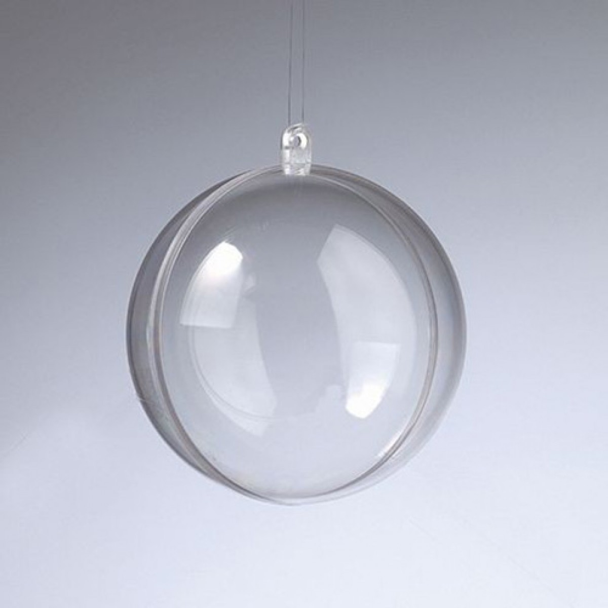 Efco Πλαστική Μπάλα Διάφανη 100mm Υλικά Χειροτεχνίας
