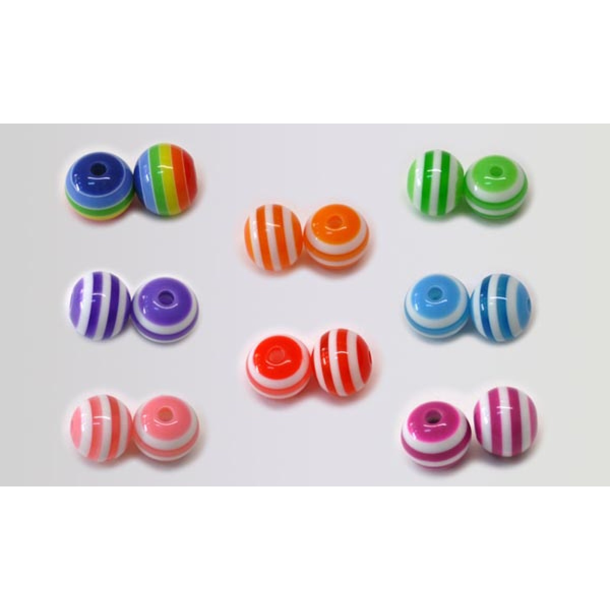 Χάντρα Ριγέ Στρογγυλή (Μίξη Χρωμάτων) Υλικά Χειροτεχνίας