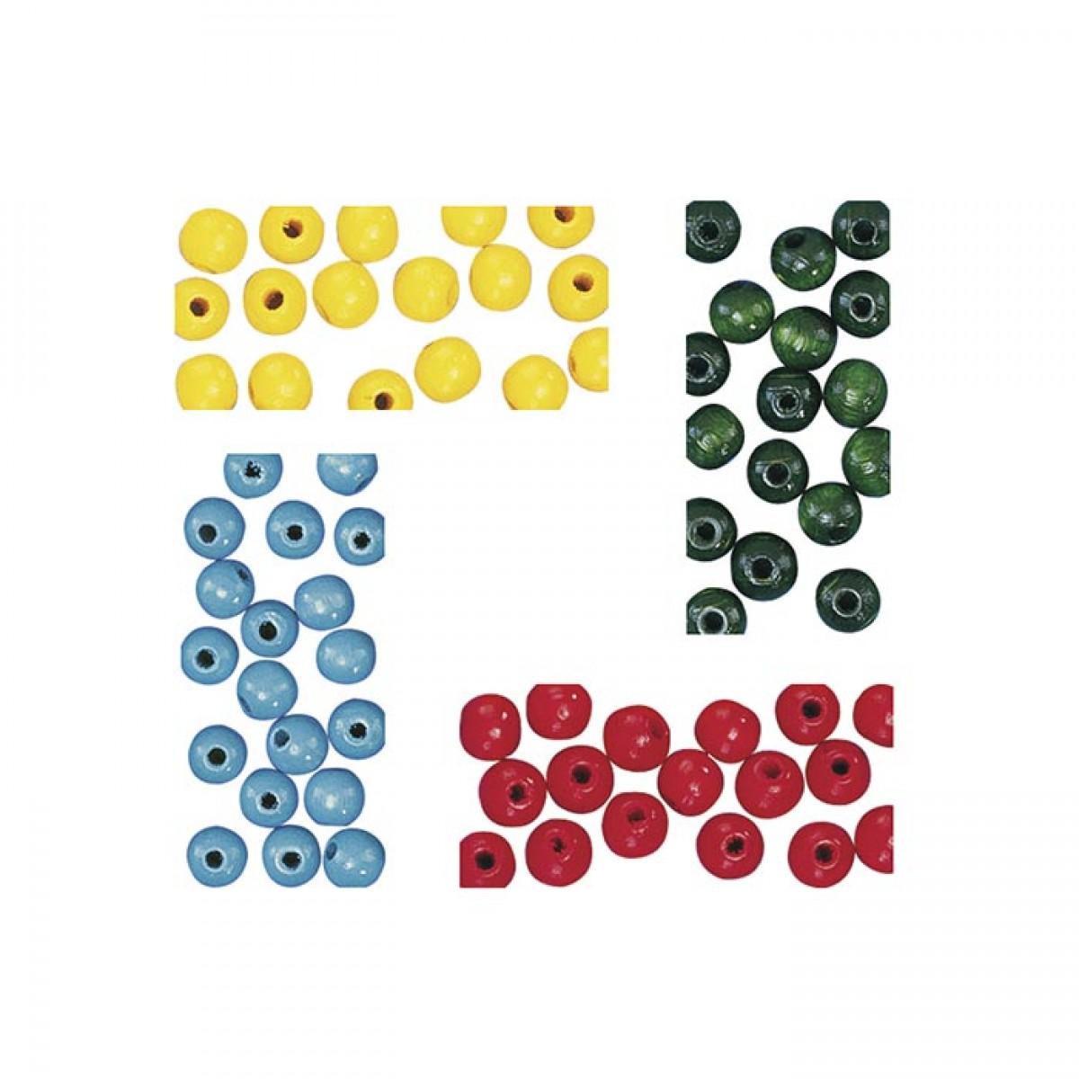 Ξύλινες Χάντρες 10mm (Διάφορα Χρώματα)  Υλικά Χειροτεχνίας