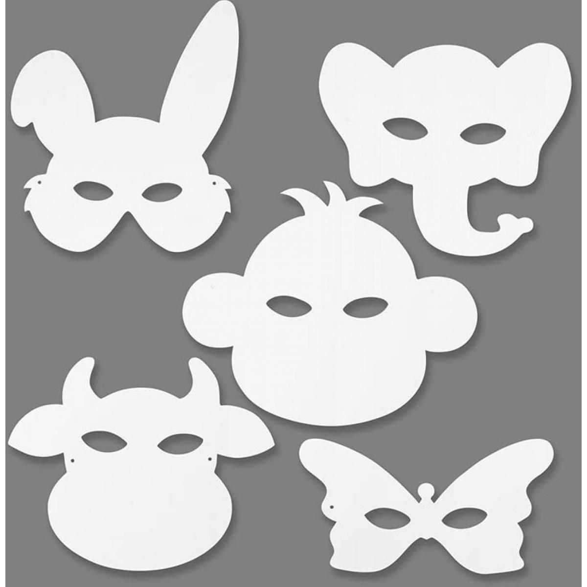 Χάρτινες Mάσκες Zώων (1 Τεμ.) Υλικά Χειροτεχνίας
