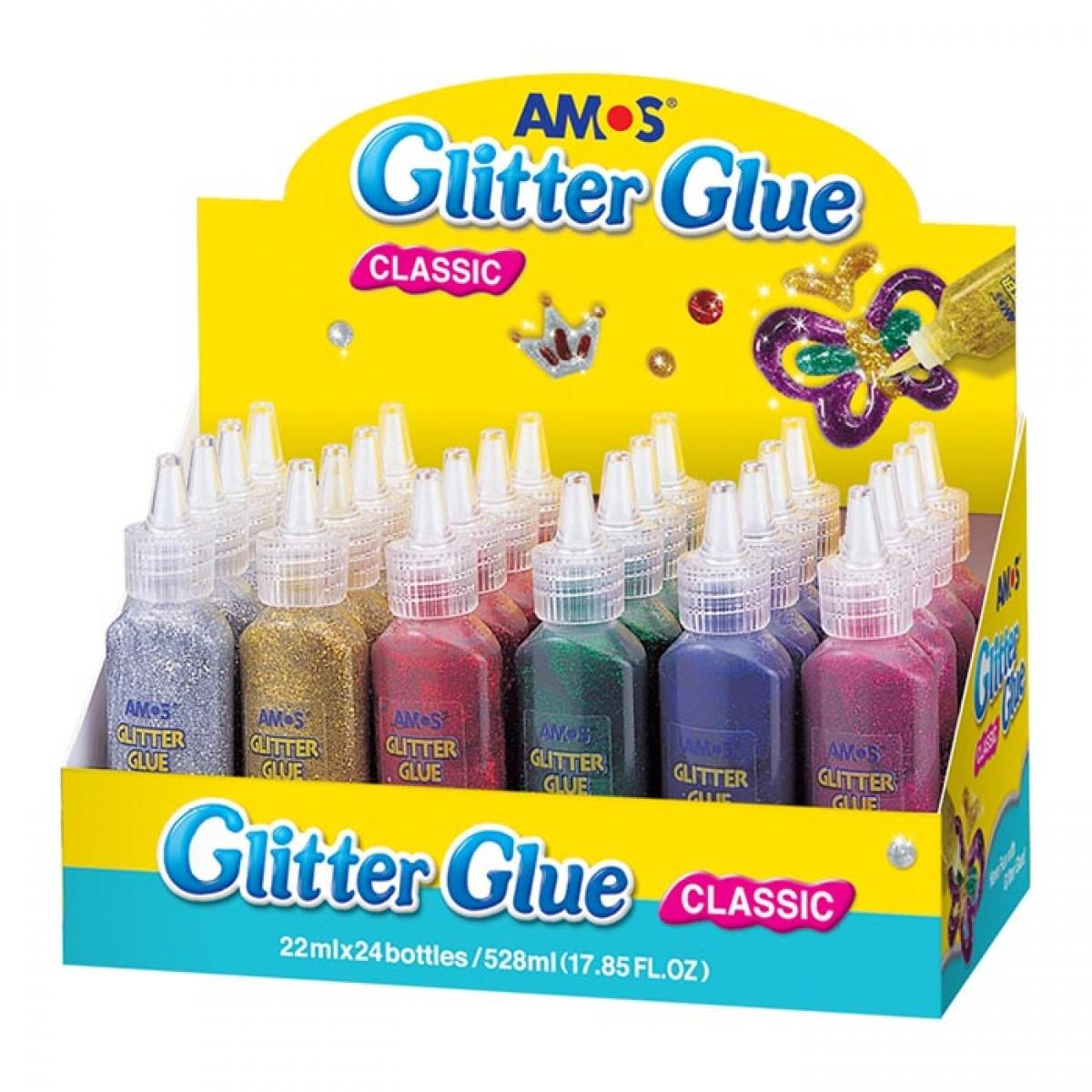 Amos Glitter Glue Χρυσόκολλα 22ml (1 Τεμ.) Είδη Ζωγραφικής