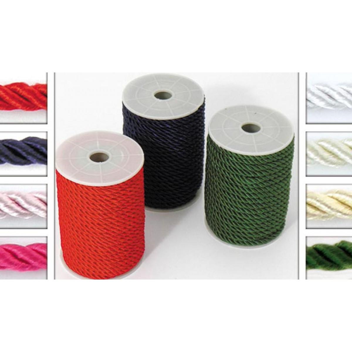 Κορδόνι Διάφορα Χρώματα 4mm Υλικά Χειροτεχνίας