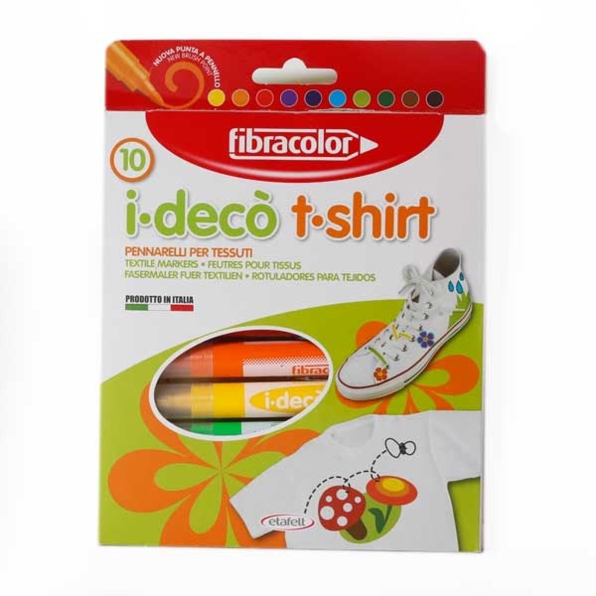 Fibracolor Μαρκαδόροι Textile (10 Τεμ.) Μαρκαδόροι