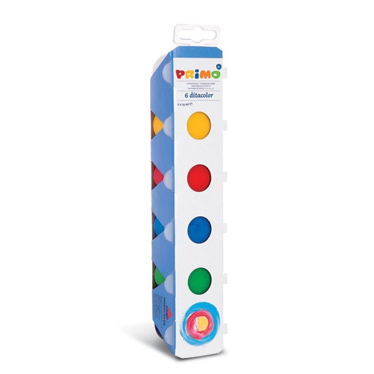 Primo Δακτυλομπογιές (6 Χρώματα) 25ml