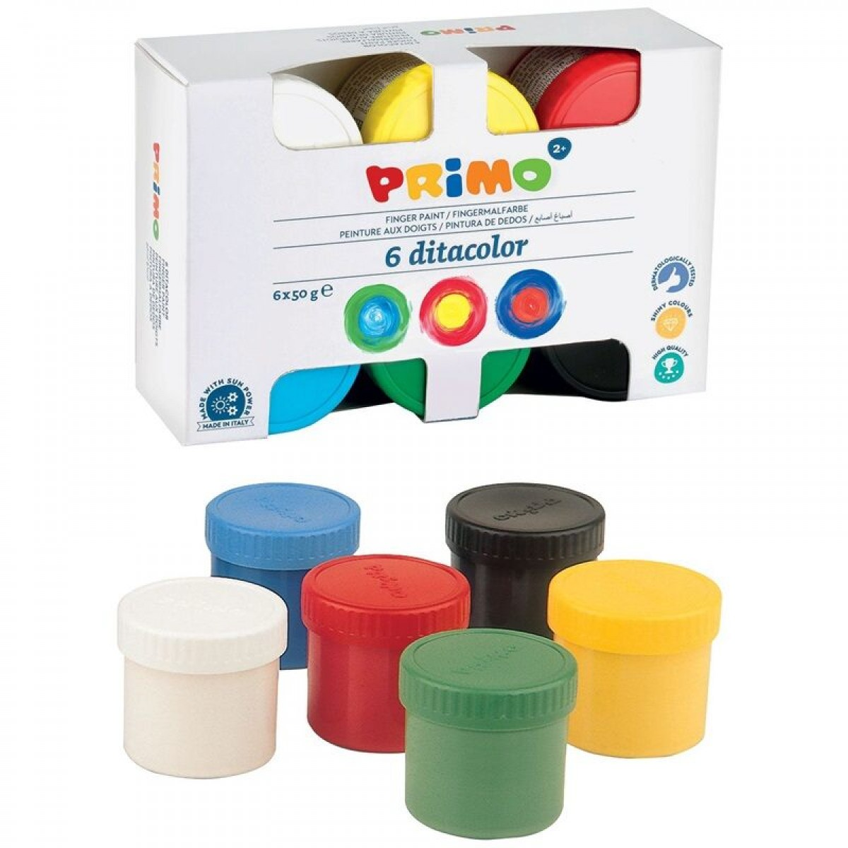 Primo Δακτυλομπογιές (6 Χρώματα) 50g