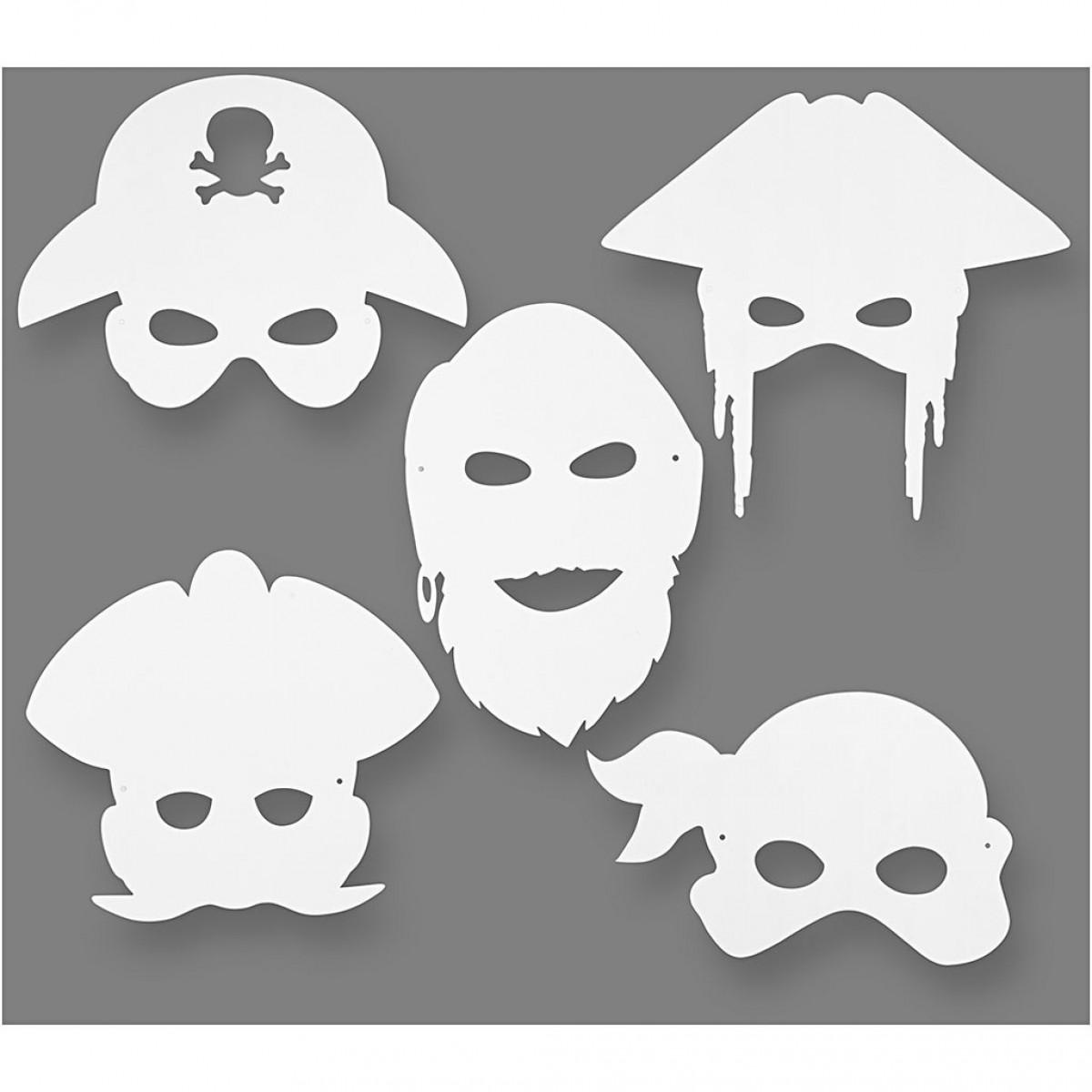 Χάρτινες Αποκριάτικες Μάσκες Πειρατές