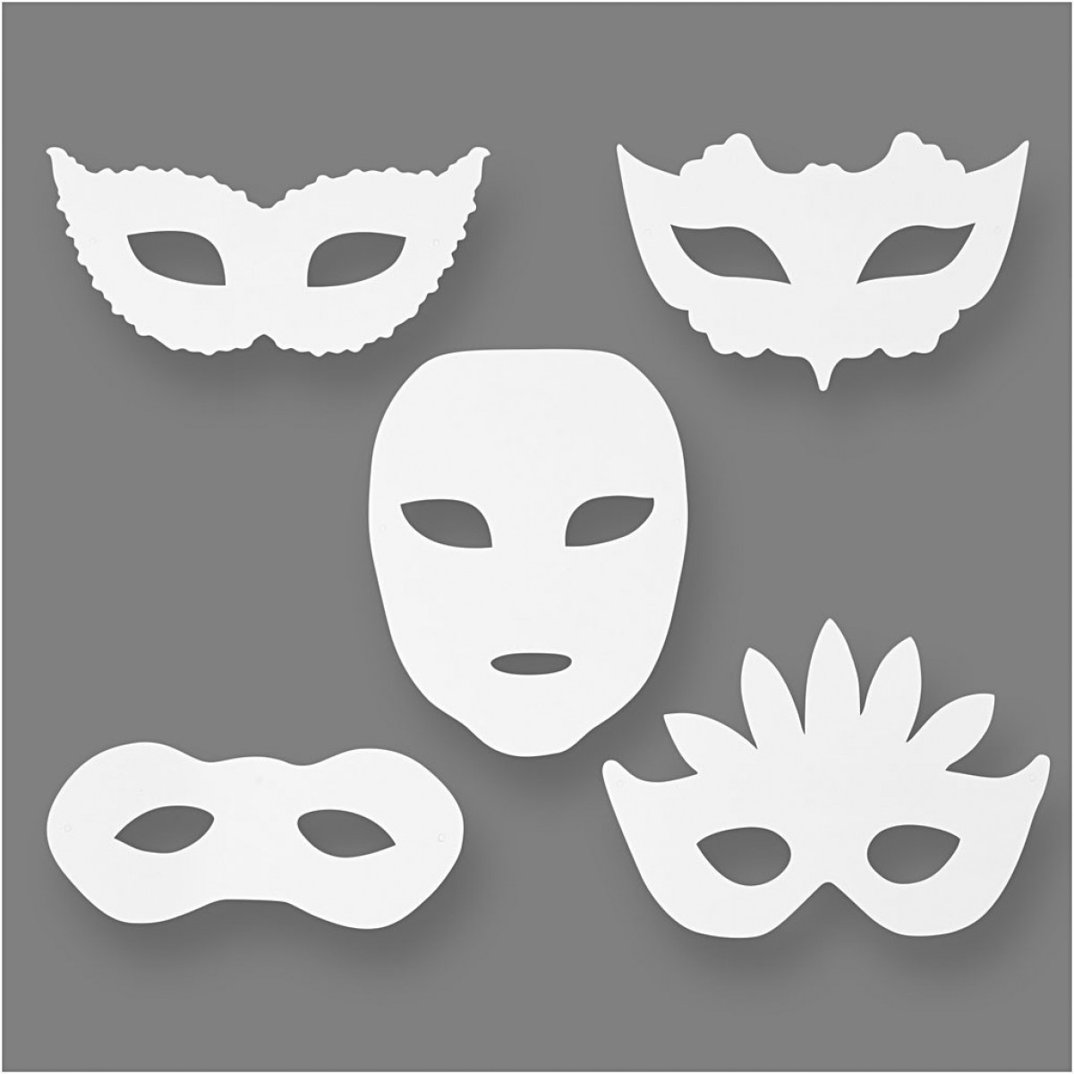 Χάρτινες Αποκριάτικες Μάσκες Διάφορες