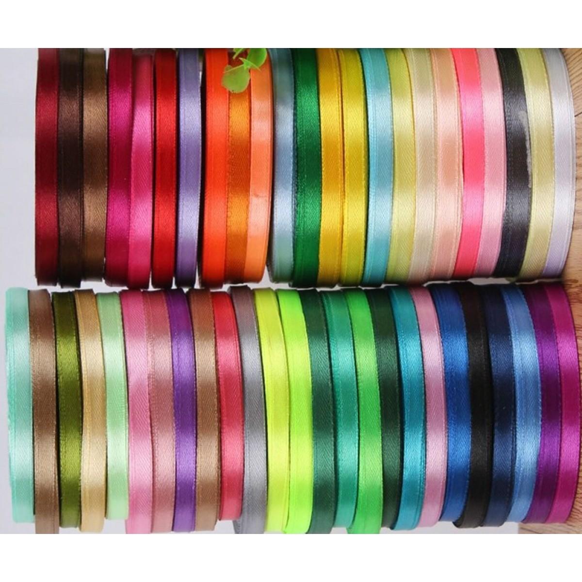 Κορδέλα Σατέν Διπλής Όψης 6mm Διάφορα Χρώματα