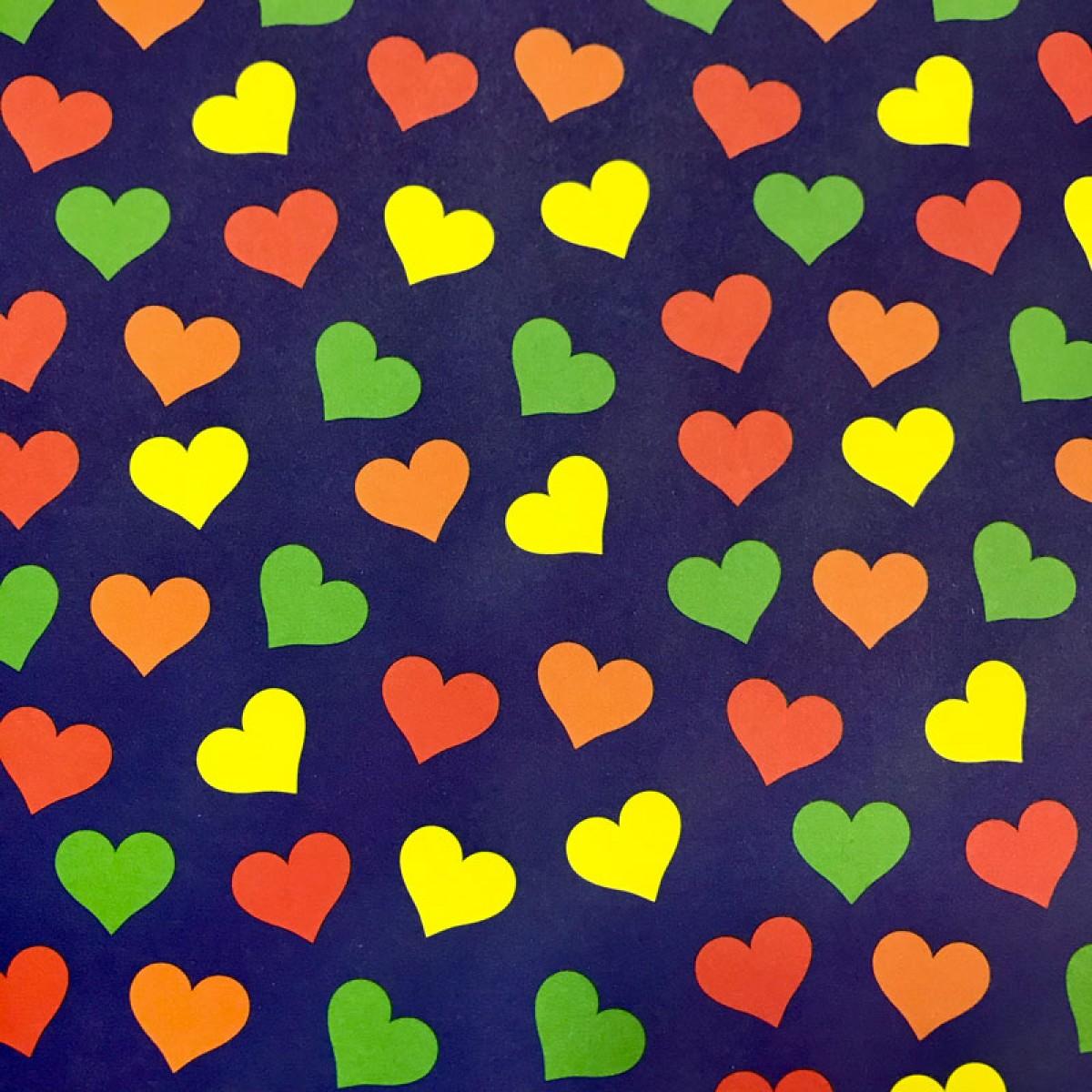 Χαρτόνι Αποκριάτικο Καρδιές