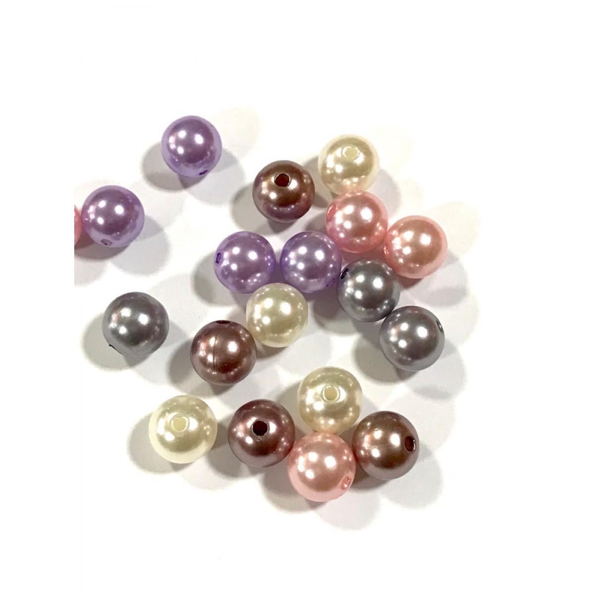 Χάντρες Πέρλες Μίξη Χρωμάτων 24mm
