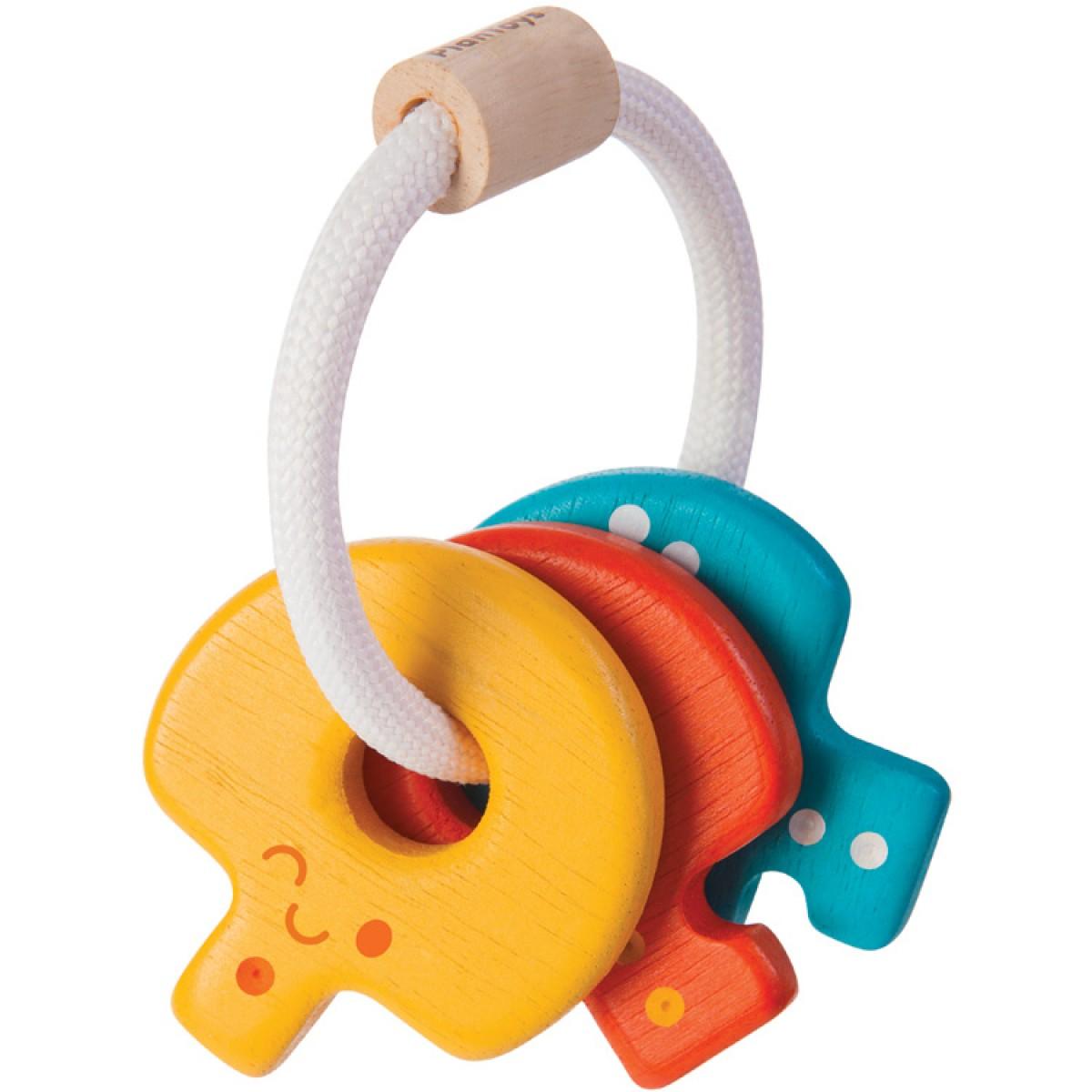 Plan Toys Κουδουνίστρα Κλειδιά Ξύλινα