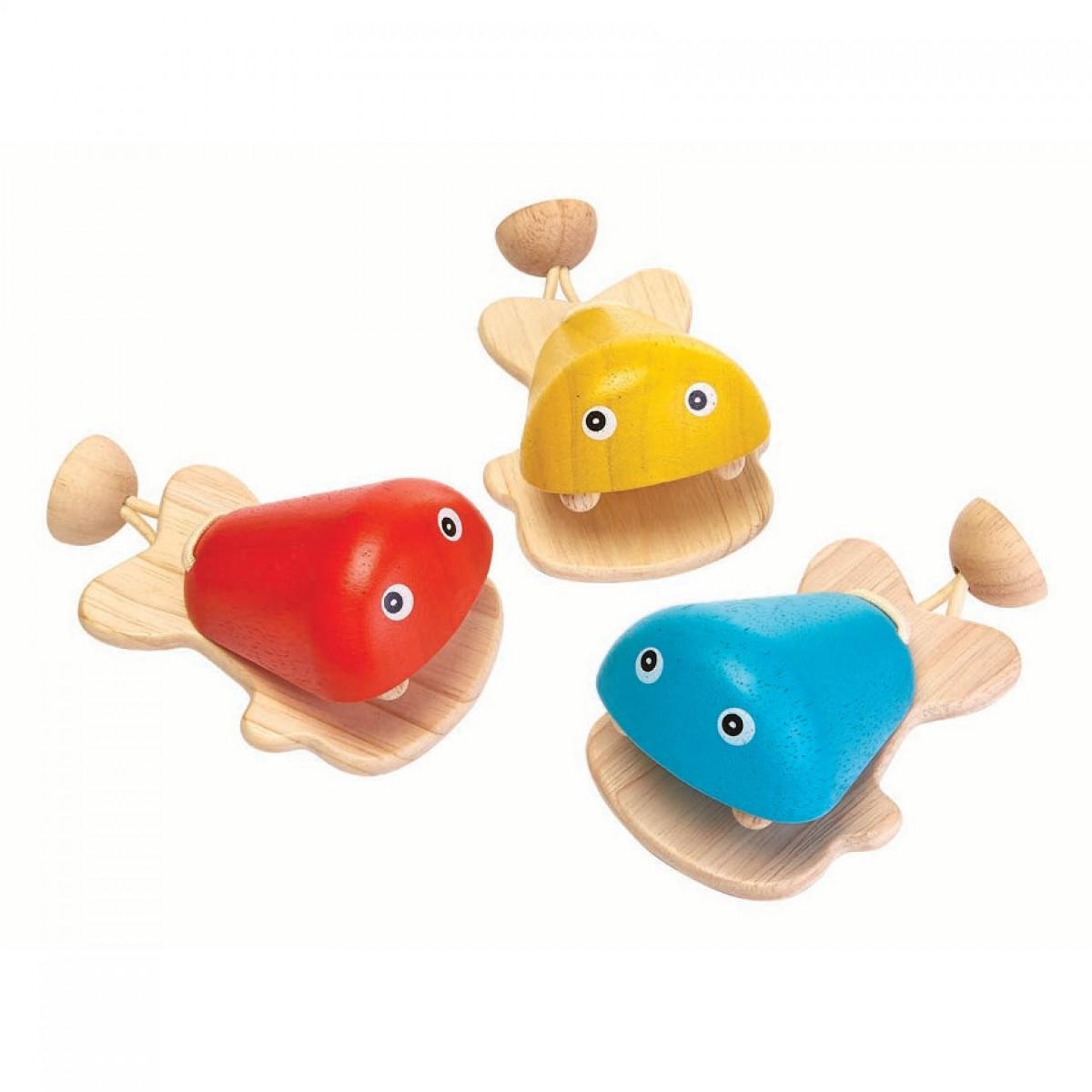 Plan Toys Καστανιέτα Ψάρι Ξύλινη