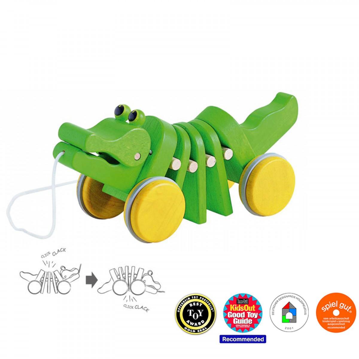 Plan Toys Κροκόδειλος που Κινείται Ξύλινος