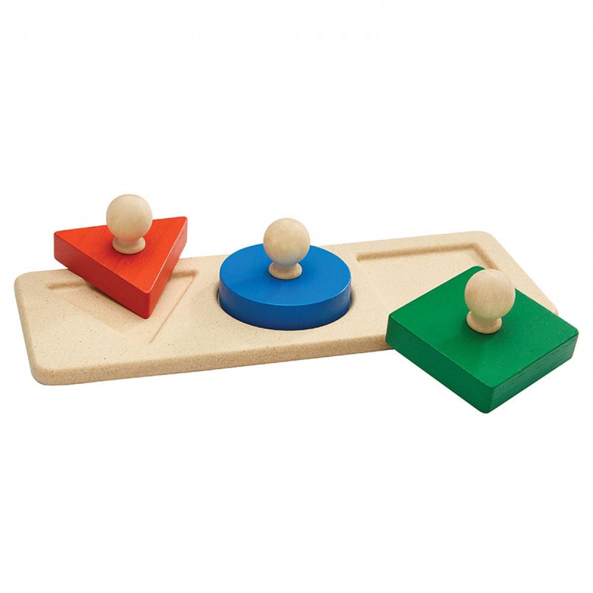 Plan Toys Παζλ με Σχήματα Ξύλινο