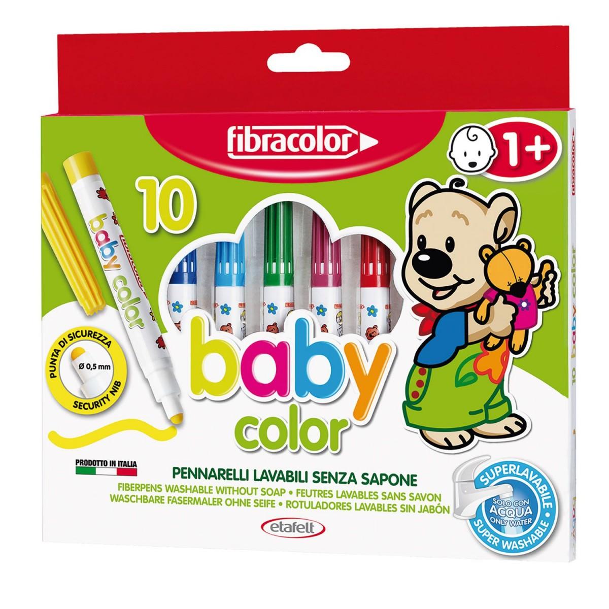 Fibracolor Μαρκαδόροι Baby 1+ (10 Τεμ.)