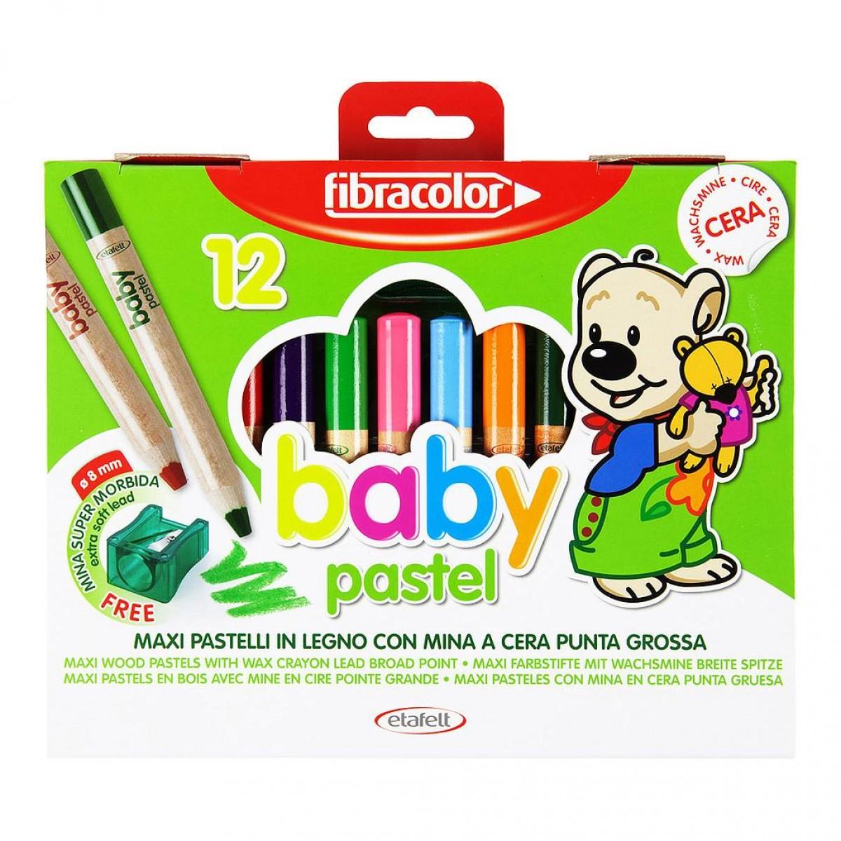 Fibracolor Κηρομπογιές Baby Pastel 1+ (6 Τεμ.)