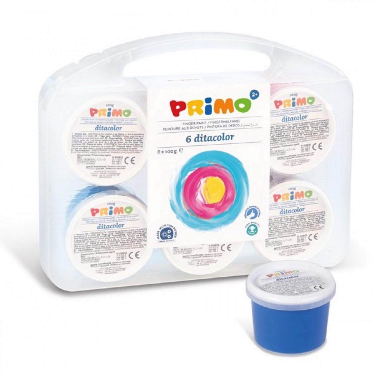 Primo Δακτυλομπογιές (6 Χρώματα) 100g